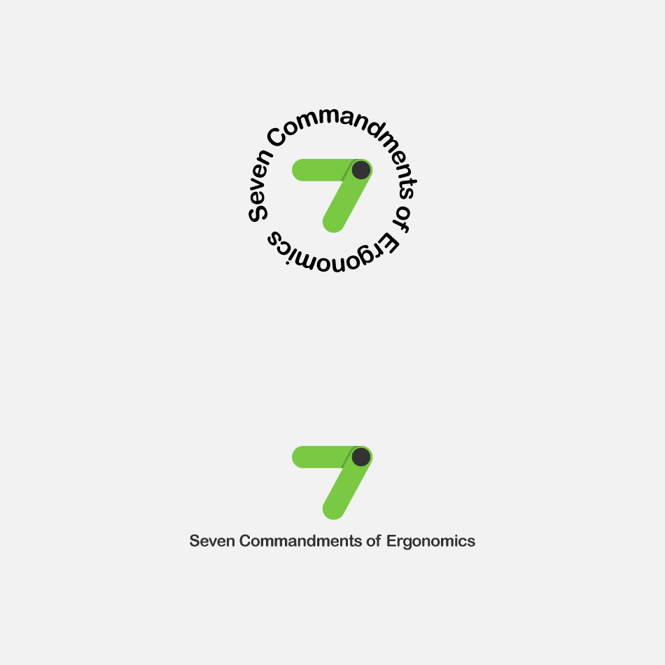 Logo Design by GraySource - Entry No. 5 in the Logo Design Contest Logo Design for Seven Commandments of Ergonomics.