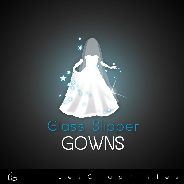 Logo Design by Les-Graphistes - Entry No. 67 in the Logo Design Contest New Logo Design for Glass Slipper Gowns.
