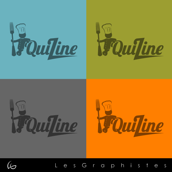 Logo Design by Les-Graphistes - Entry No. 3 in the Logo Design Contest Quizine Logo Design.