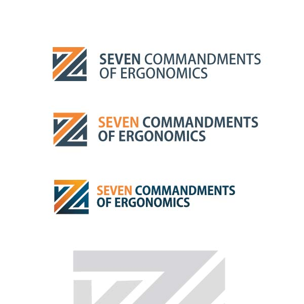 Logo Design by Pandu Wijaya - Entry No. 14 in the Logo Design Contest Logo Design for Seven Commandments of Ergonomics.