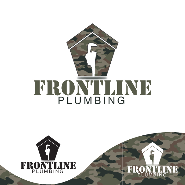 Logo Design by storm - Entry No. 7 in the Logo Design Contest Fun Logo Design for Front Line Plumbing.