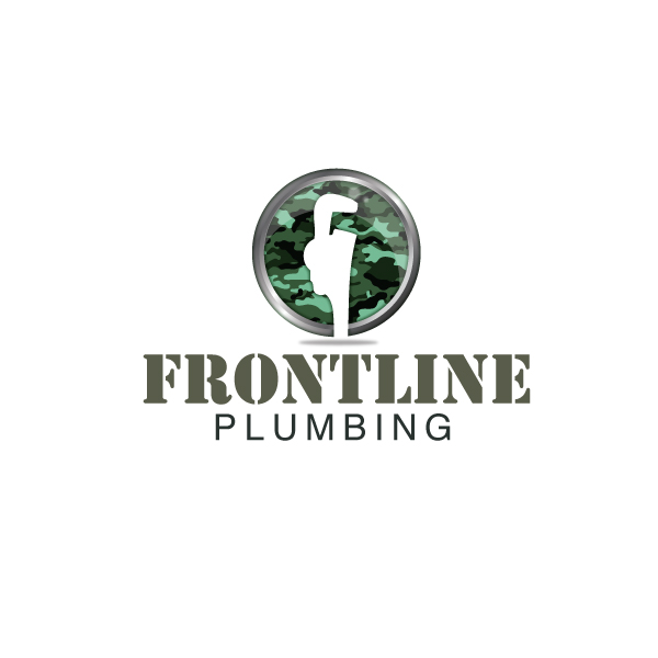 Logo Design by storm - Entry No. 8 in the Logo Design Contest Fun Logo Design for Front Line Plumbing.