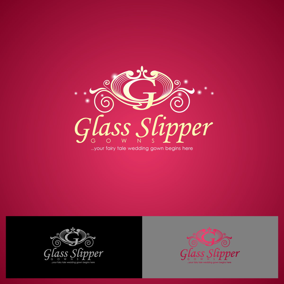 Logo Design by zesthar - Entry No. 75 in the Logo Design Contest New Logo Design for Glass Slipper Gowns.