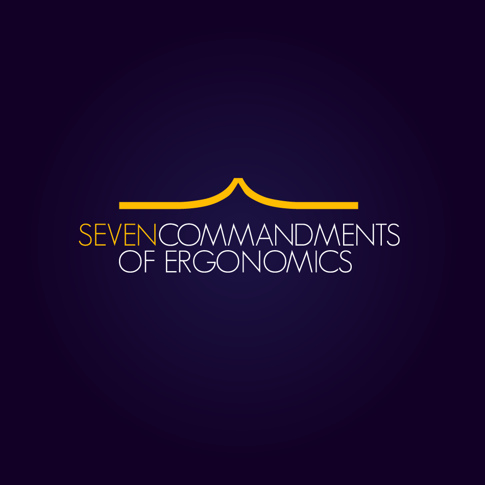 Logo Design by moonflower - Entry No. 23 in the Logo Design Contest Logo Design for Seven Commandments of Ergonomics.