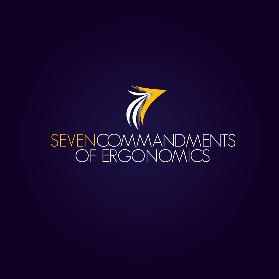 Logo Design by moonflower - Entry No. 24 in the Logo Design Contest Logo Design for Seven Commandments of Ergonomics.