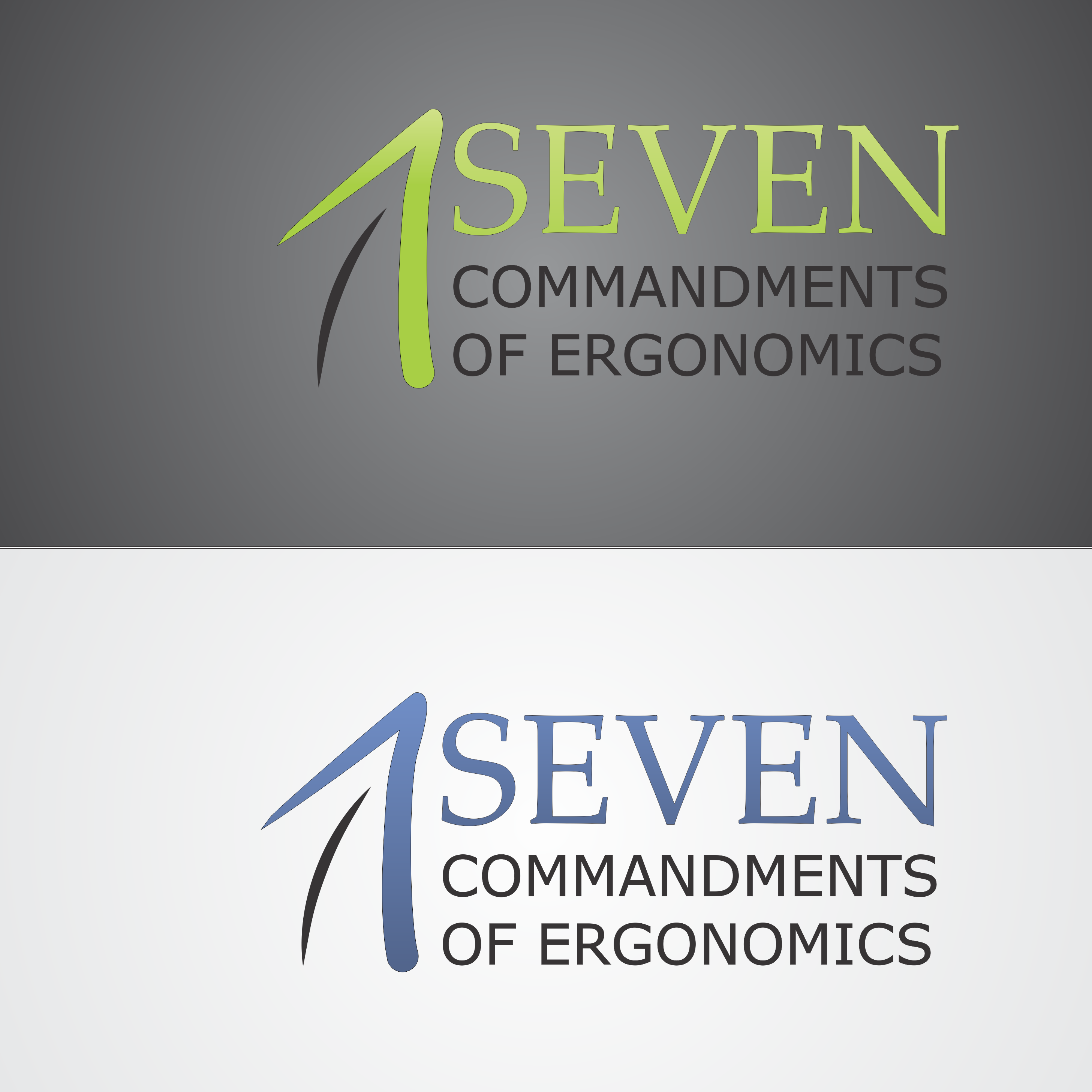Logo Design by robbiemack - Entry No. 29 in the Logo Design Contest Logo Design for Seven Commandments of Ergonomics.