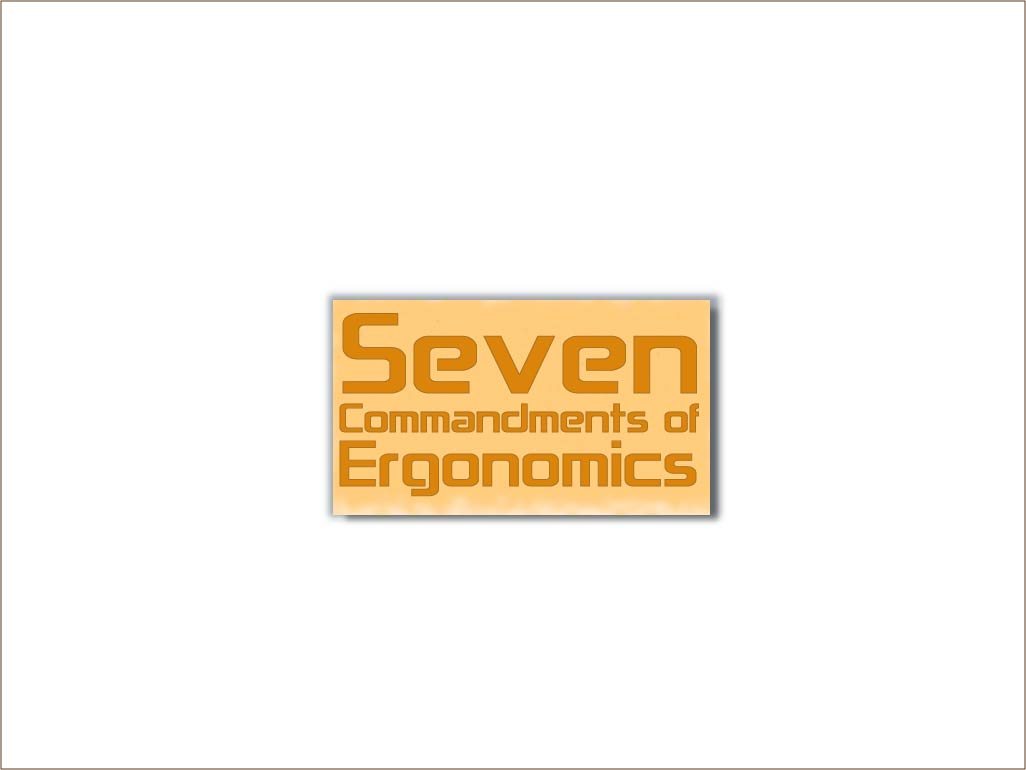 Logo Design by Private User - Entry No. 32 in the Logo Design Contest Logo Design for Seven Commandments of Ergonomics.