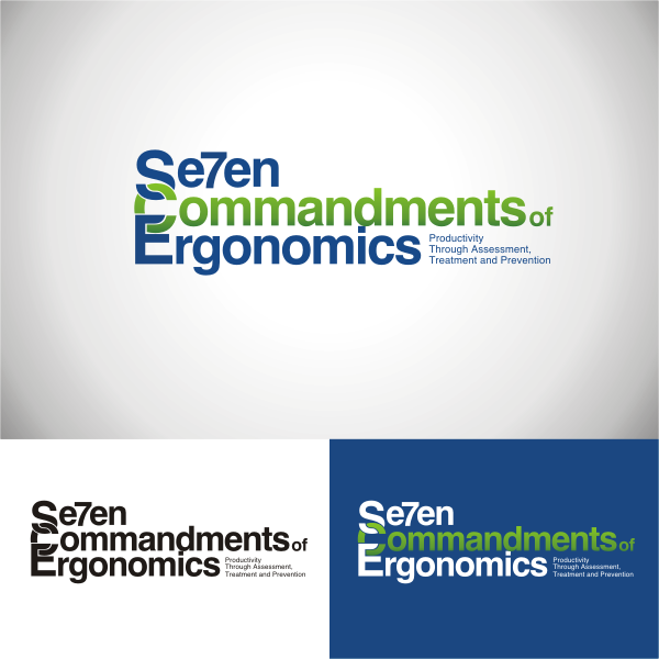 Logo Design by Arip Novi - Entry No. 52 in the Logo Design Contest Logo Design for Seven Commandments of Ergonomics.