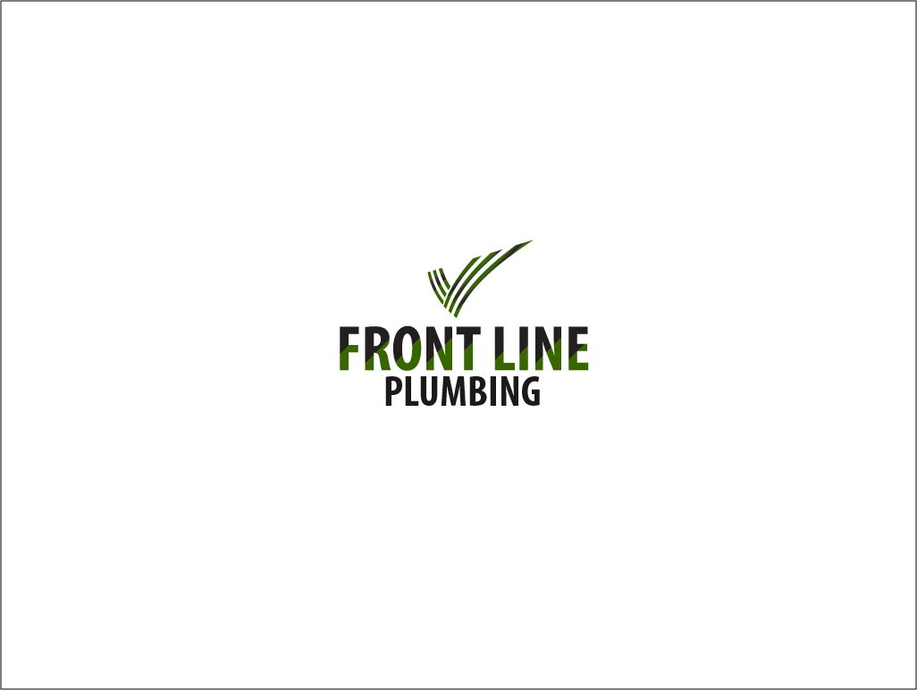 Logo Design by Private User - Entry No. 19 in the Logo Design Contest Fun Logo Design for Front Line Plumbing.