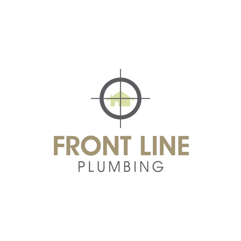 Logo Design by Private User - Entry No. 21 in the Logo Design Contest Fun Logo Design for Front Line Plumbing.