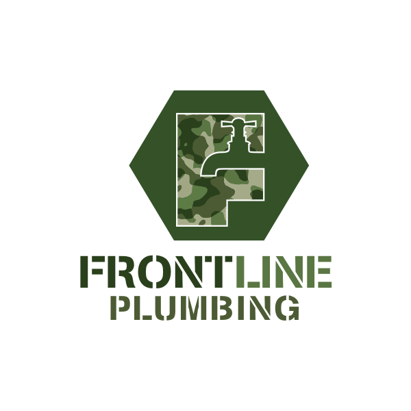 Logo Design by Rudy - Entry No. 28 in the Logo Design Contest Fun Logo Design for Front Line Plumbing.