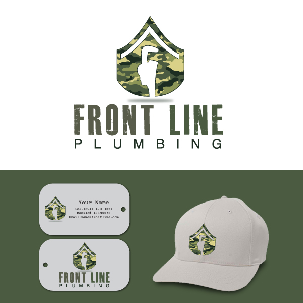 Logo Design by storm - Entry No. 29 in the Logo Design Contest Fun Logo Design for Front Line Plumbing.