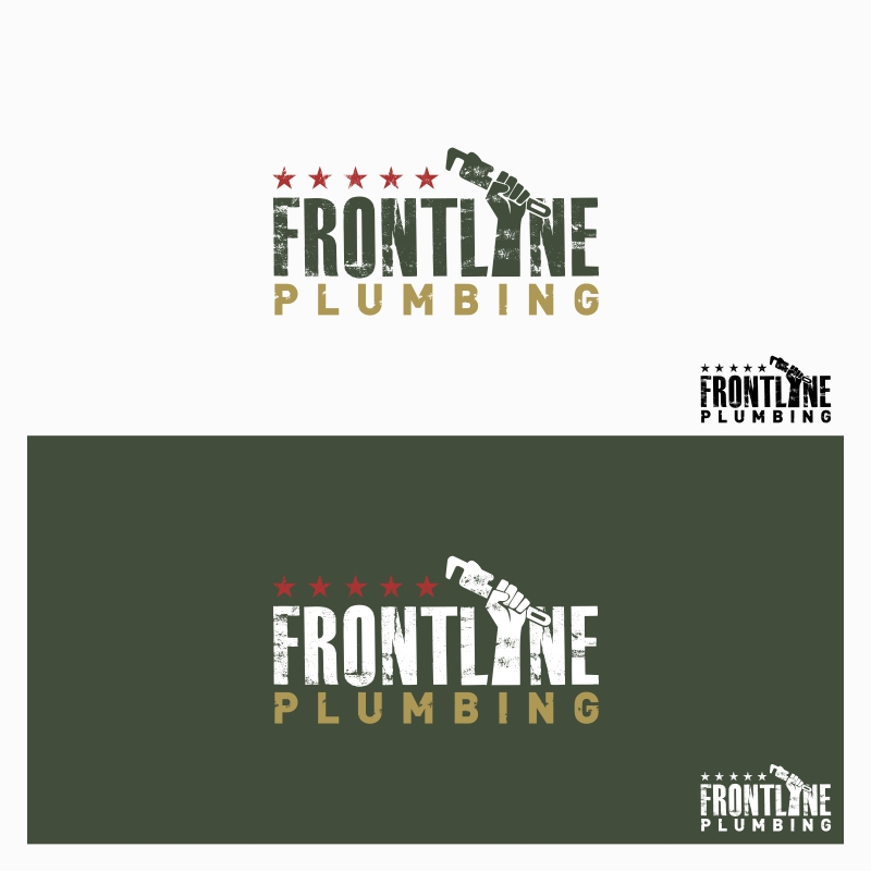 Logo Design by Private User - Entry No. 40 in the Logo Design Contest Fun Logo Design for Front Line Plumbing.