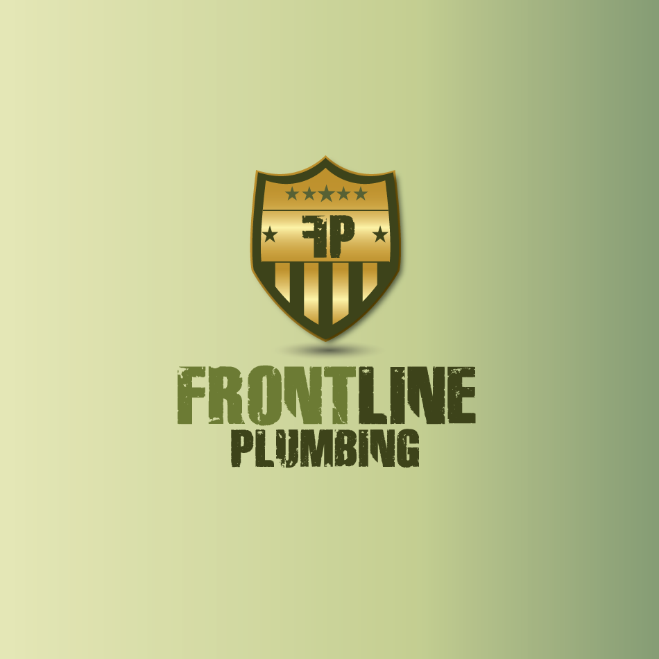 Logo Design by moonflower - Entry No. 43 in the Logo Design Contest Fun Logo Design for Front Line Plumbing.