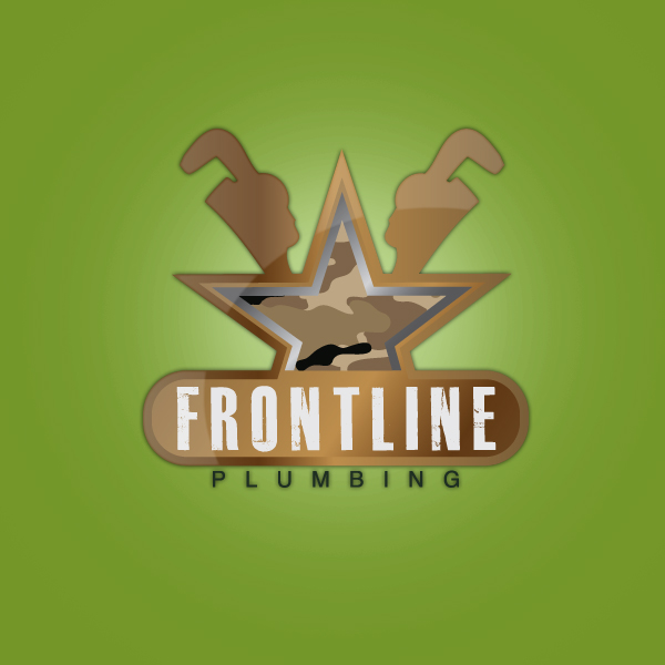 Logo Design by storm - Entry No. 44 in the Logo Design Contest Fun Logo Design for Front Line Plumbing.