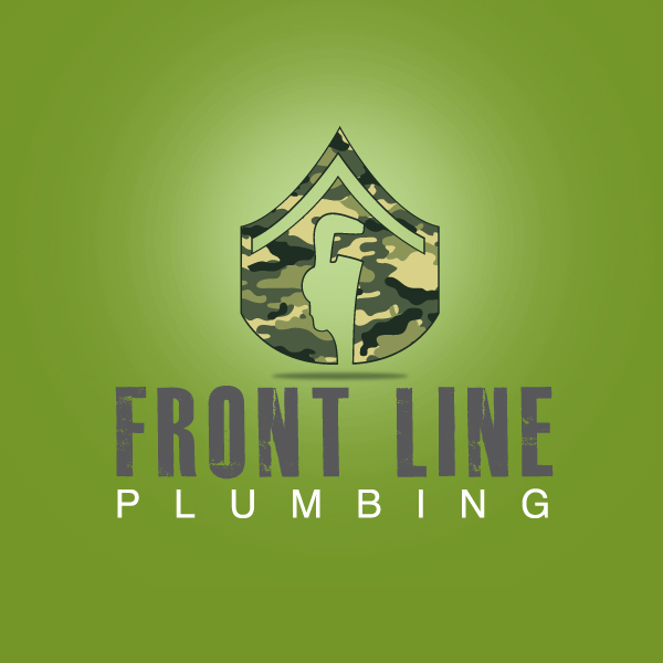 Logo Design by storm - Entry No. 45 in the Logo Design Contest Fun Logo Design for Front Line Plumbing.