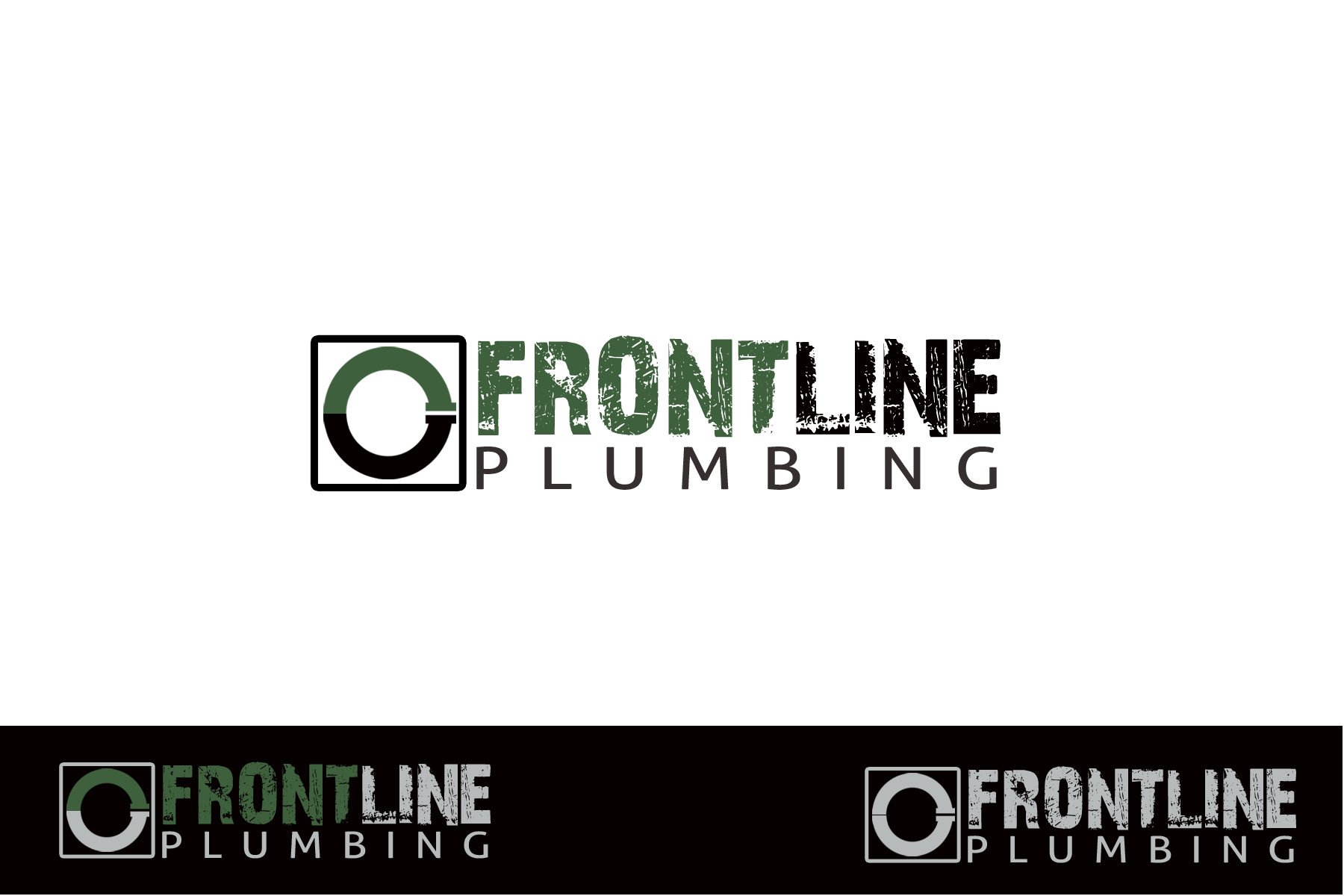 Logo Design by golden-hand - Entry No. 46 in the Logo Design Contest Fun Logo Design for Front Line Plumbing.