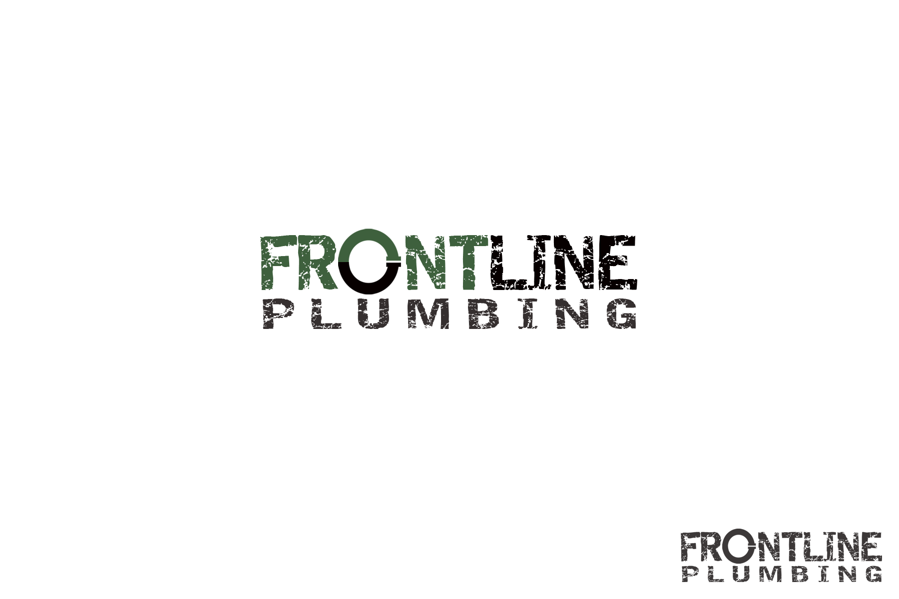 Logo Design by Golden_Hand - Entry No. 47 in the Logo Design Contest Fun Logo Design for Front Line Plumbing.