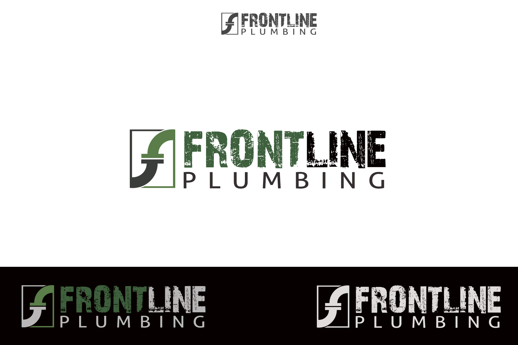Logo Design by Golden_Hand - Entry No. 48 in the Logo Design Contest Fun Logo Design for Front Line Plumbing.