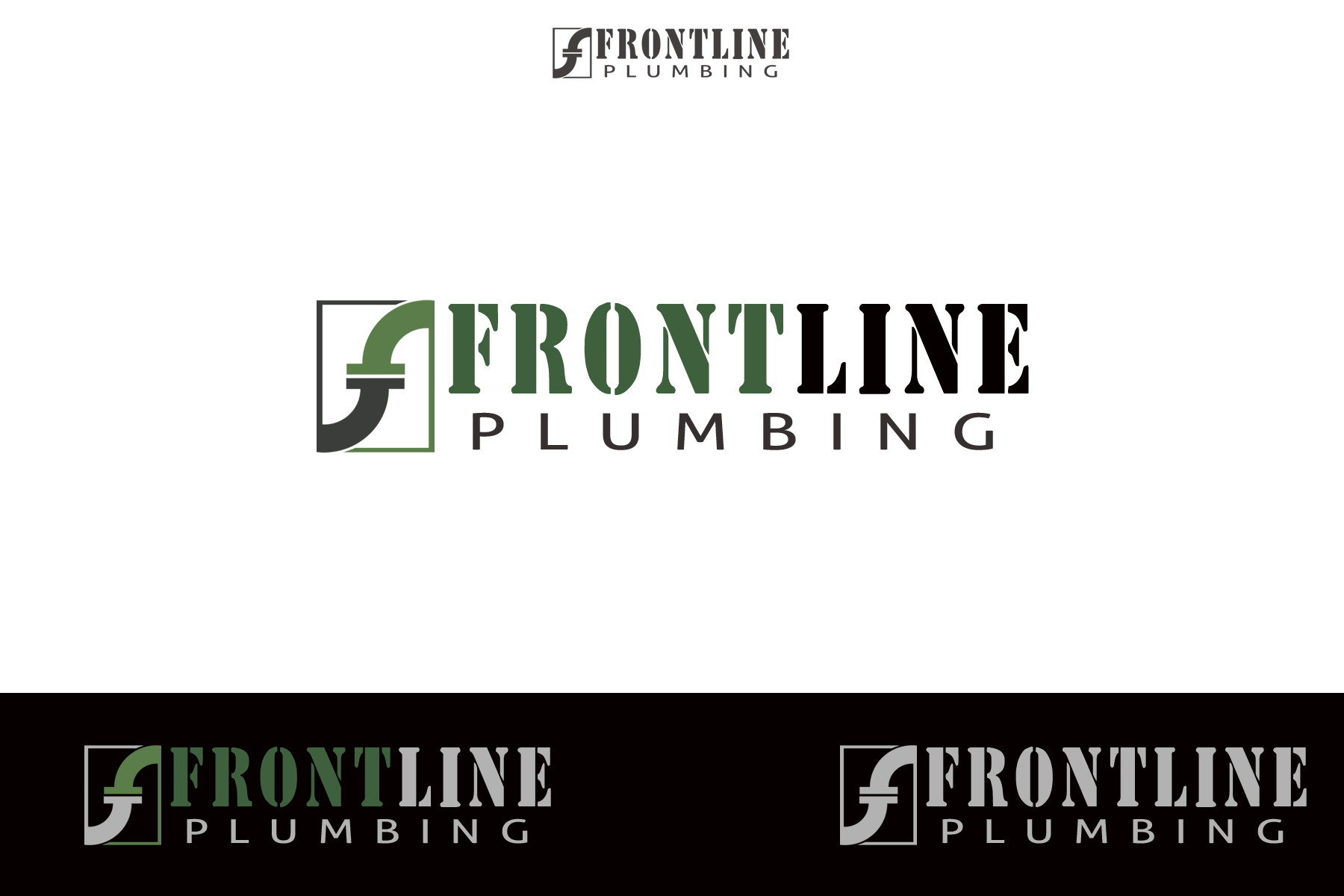 Logo Design by Golden_Hand - Entry No. 49 in the Logo Design Contest Fun Logo Design for Front Line Plumbing.