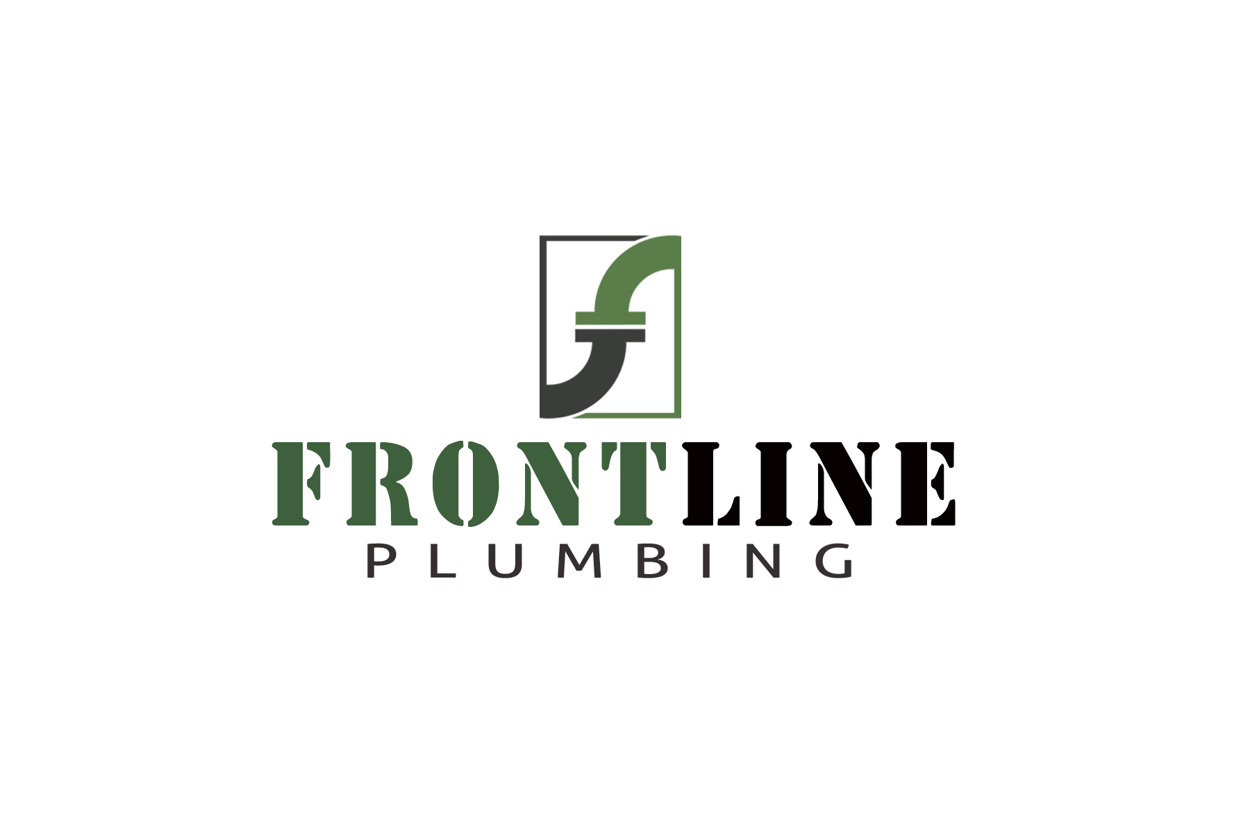 Logo Design by Golden_Hand - Entry No. 50 in the Logo Design Contest Fun Logo Design for Front Line Plumbing.