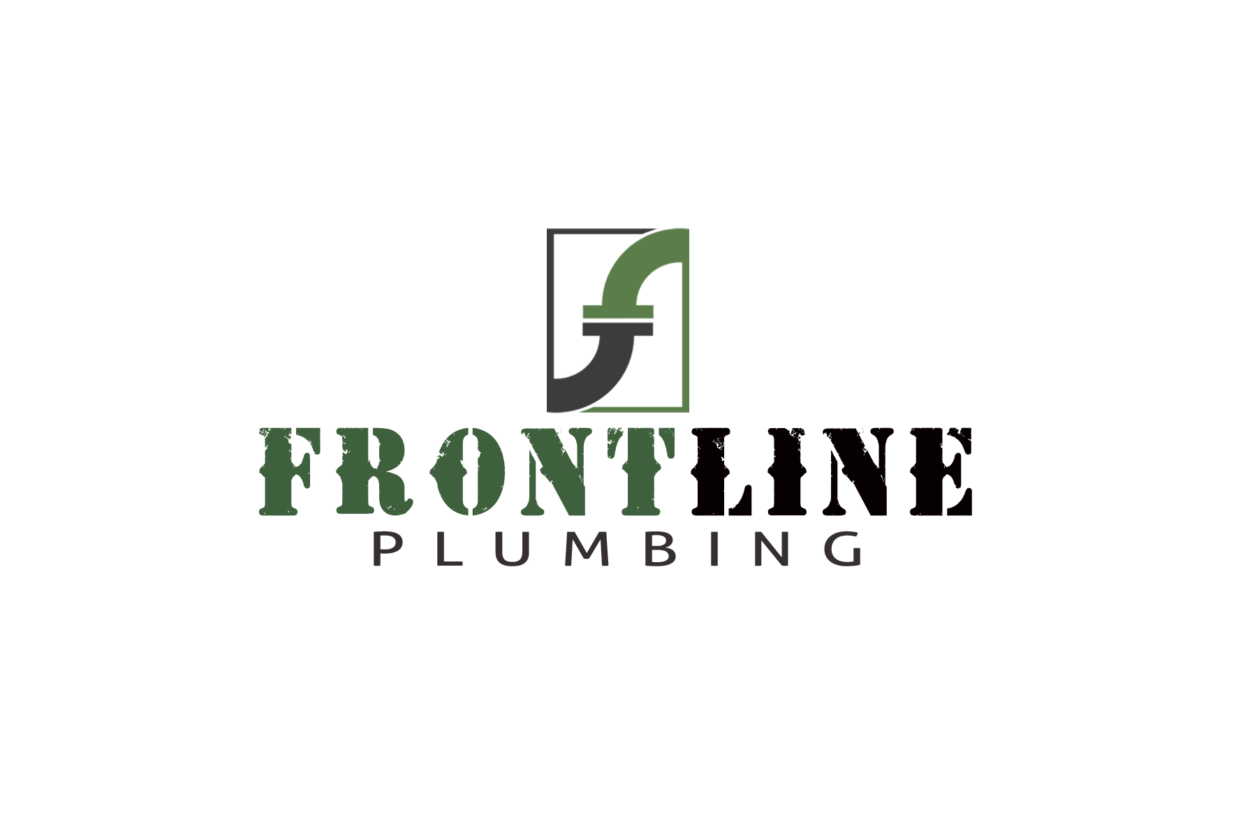 Logo Design by Golden_Hand - Entry No. 52 in the Logo Design Contest Fun Logo Design for Front Line Plumbing.