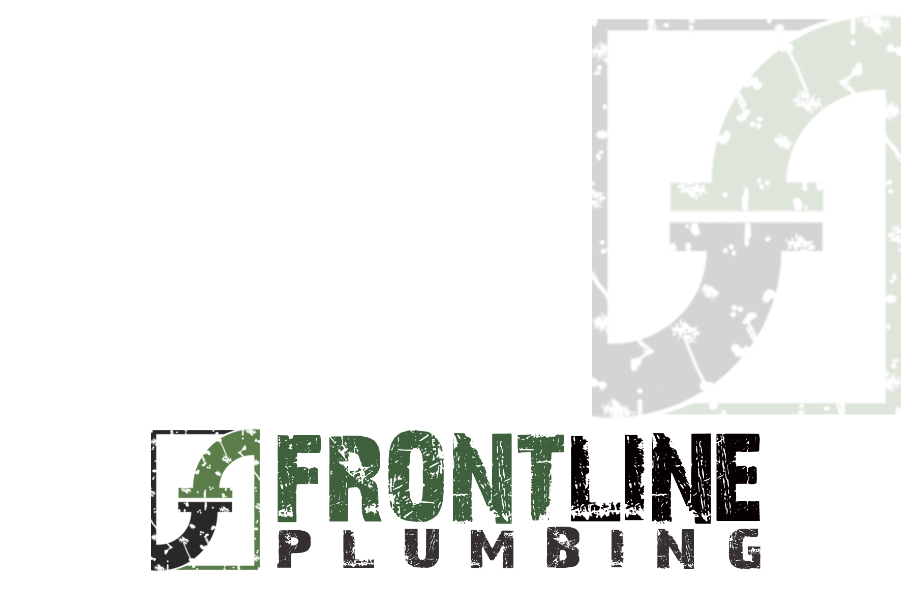 Logo Design by Golden_Hand - Entry No. 56 in the Logo Design Contest Fun Logo Design for Front Line Plumbing.
