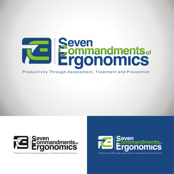 Logo Design by Arip Novi - Entry No. 108 in the Logo Design Contest Logo Design for Seven Commandments of Ergonomics.