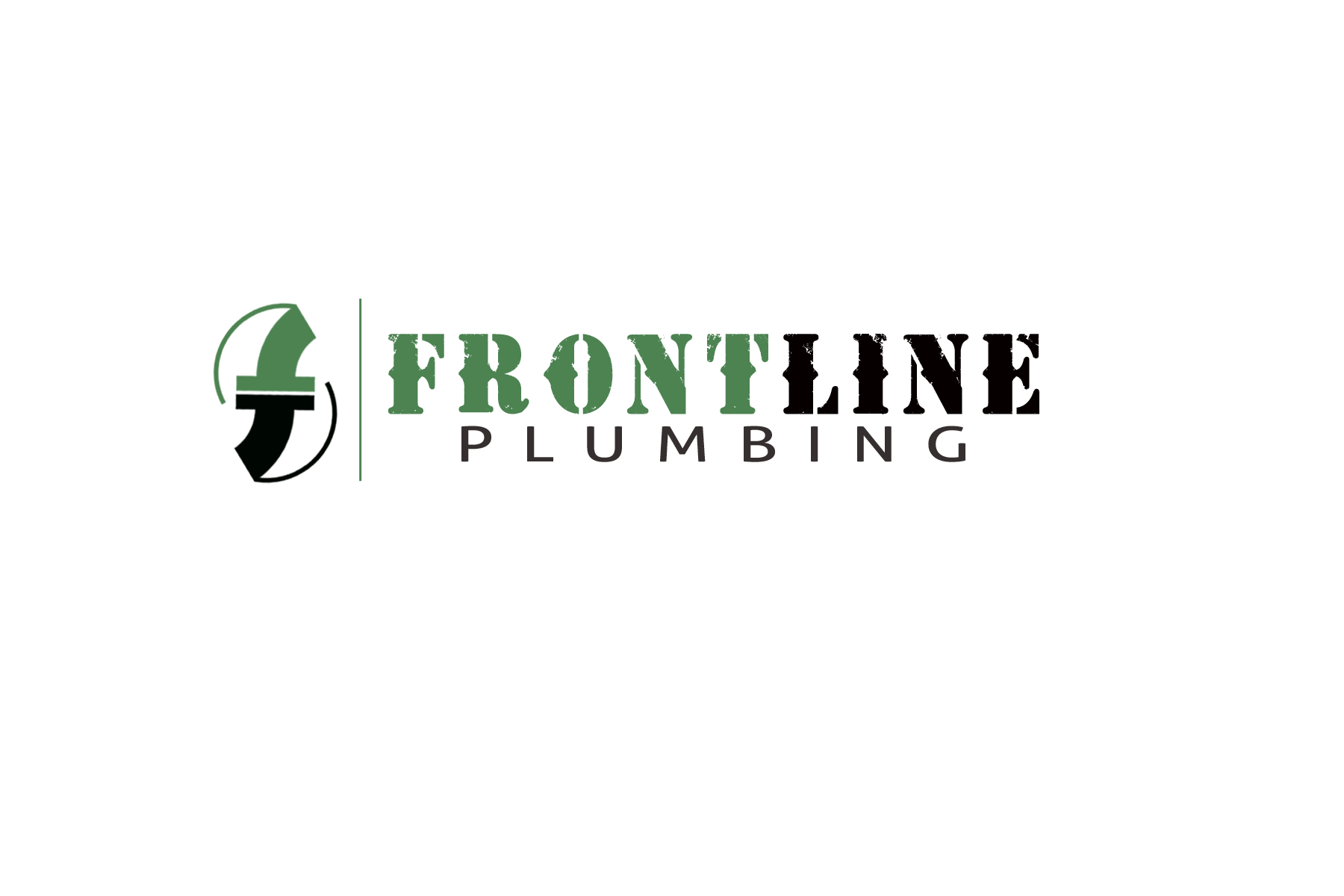 Logo Design by Golden_Hand - Entry No. 59 in the Logo Design Contest Fun Logo Design for Front Line Plumbing.