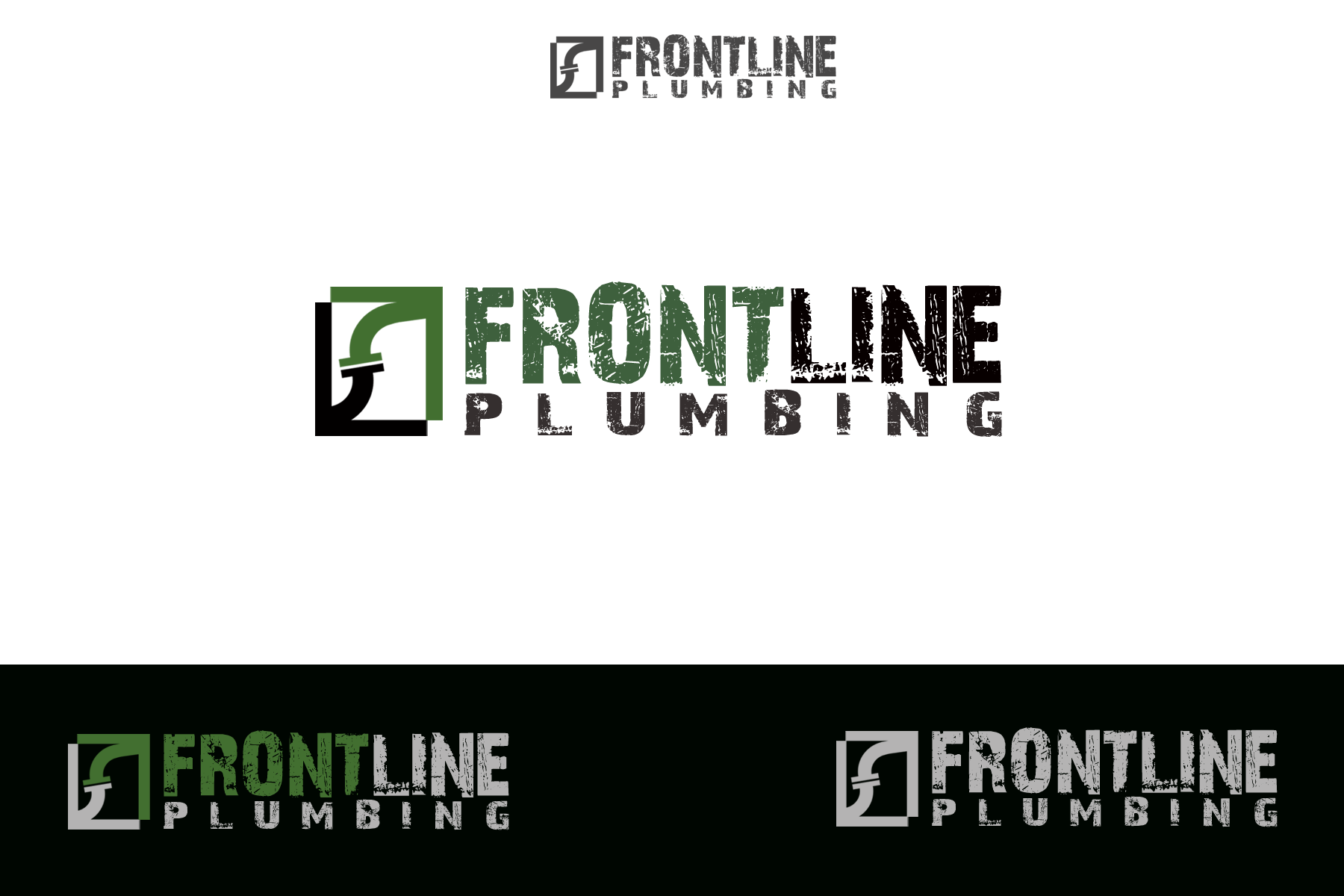 Logo Design by Golden_Hand - Entry No. 60 in the Logo Design Contest Fun Logo Design for Front Line Plumbing.