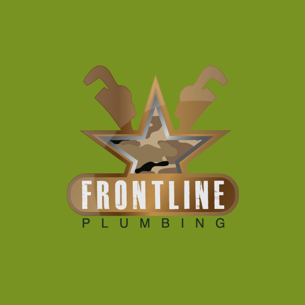Logo Design by storm - Entry No. 61 in the Logo Design Contest Fun Logo Design for Front Line Plumbing.