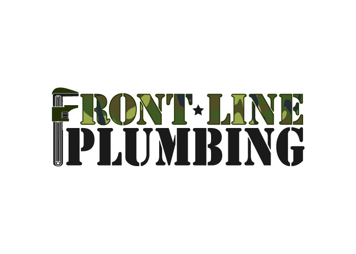 Logo Design by Niki_e_Z - Entry No. 63 in the Logo Design Contest Fun Logo Design for Front Line Plumbing.