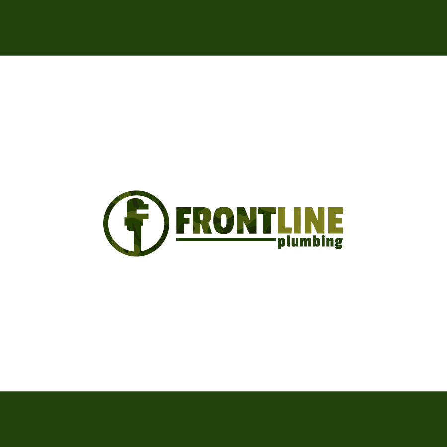 Logo Design by zesthar - Entry No. 64 in the Logo Design Contest Fun Logo Design for Front Line Plumbing.