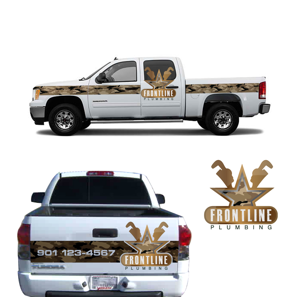 Logo Design by storm - Entry No. 65 in the Logo Design Contest Fun Logo Design for Front Line Plumbing.