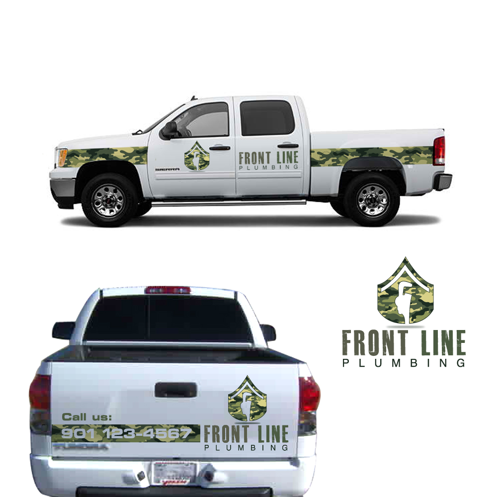 Logo Design by storm - Entry No. 66 in the Logo Design Contest Fun Logo Design for Front Line Plumbing.