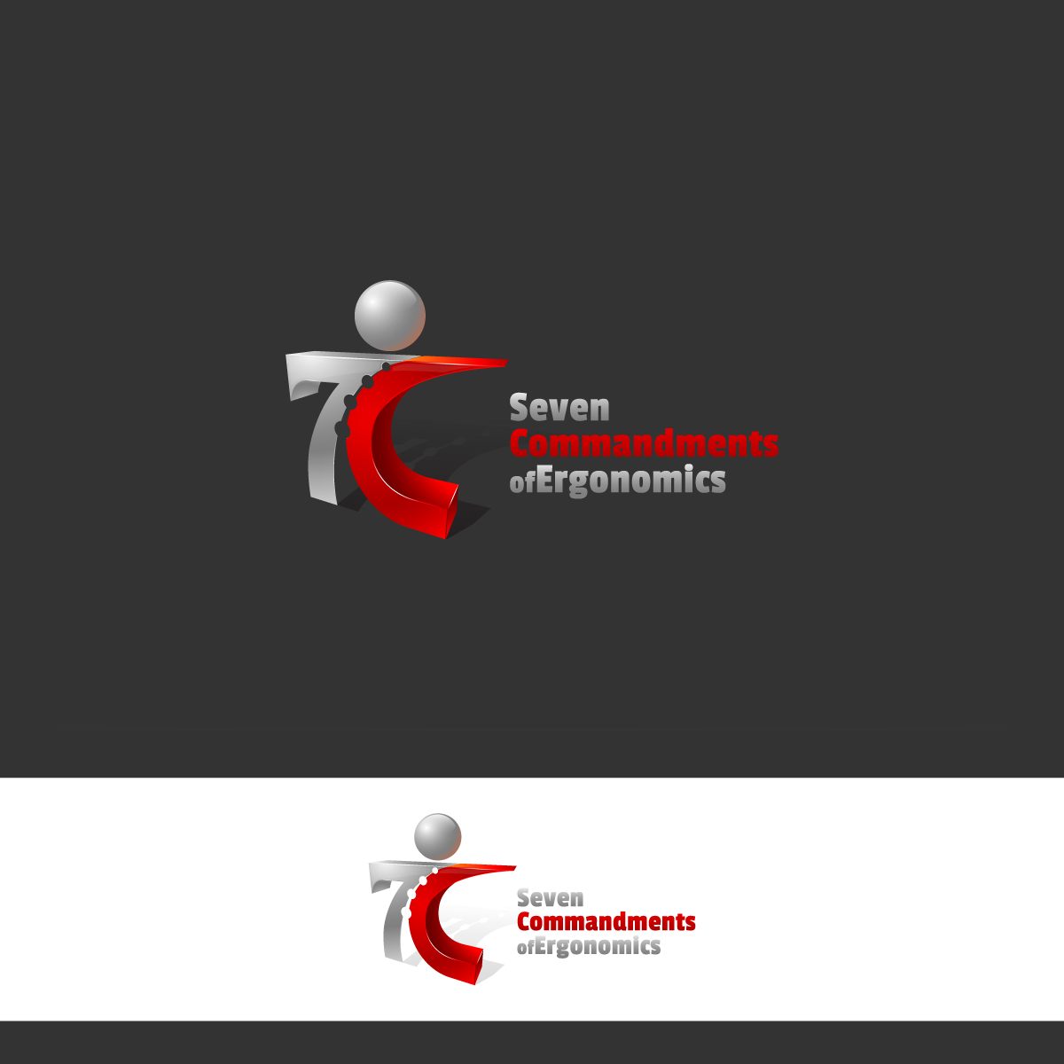 Logo Design by zesthar - Entry No. 112 in the Logo Design Contest Logo Design for Seven Commandments of Ergonomics.