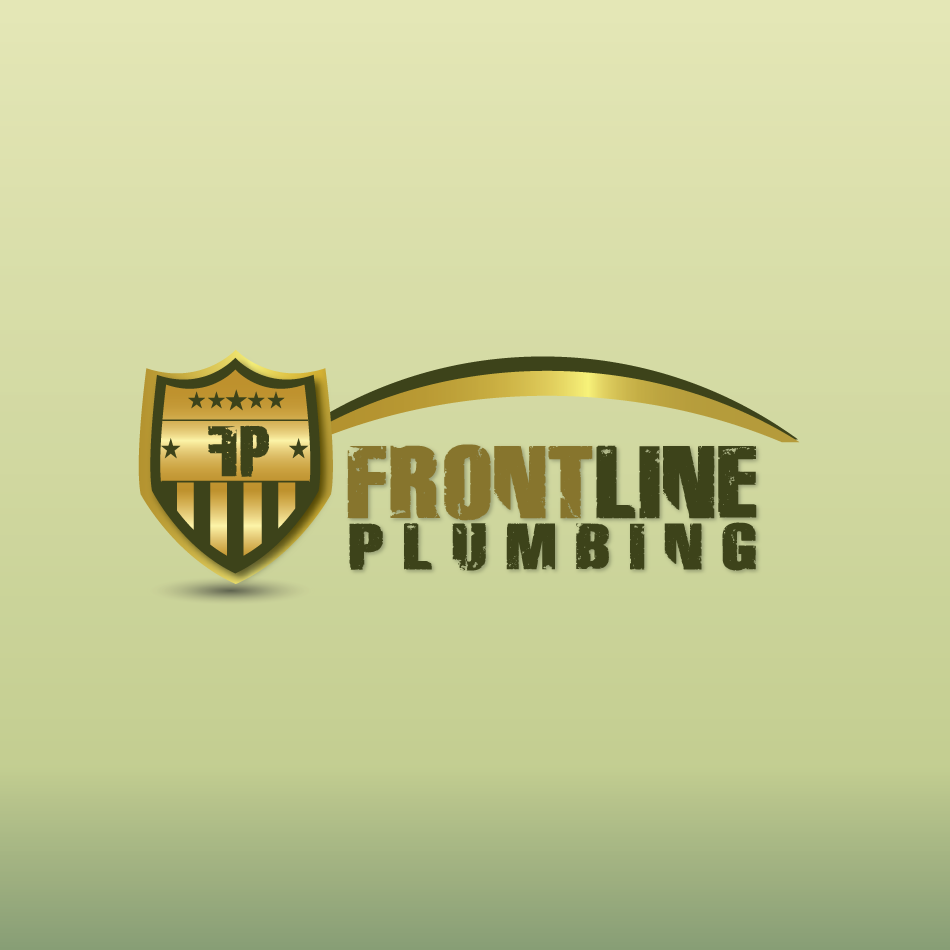 Logo Design by moonflower - Entry No. 67 in the Logo Design Contest Fun Logo Design for Front Line Plumbing.
