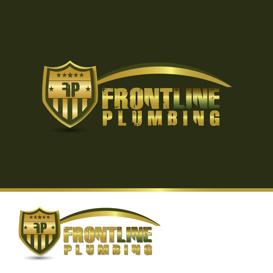 Logo Design by moonflower - Entry No. 68 in the Logo Design Contest Fun Logo Design for Front Line Plumbing.