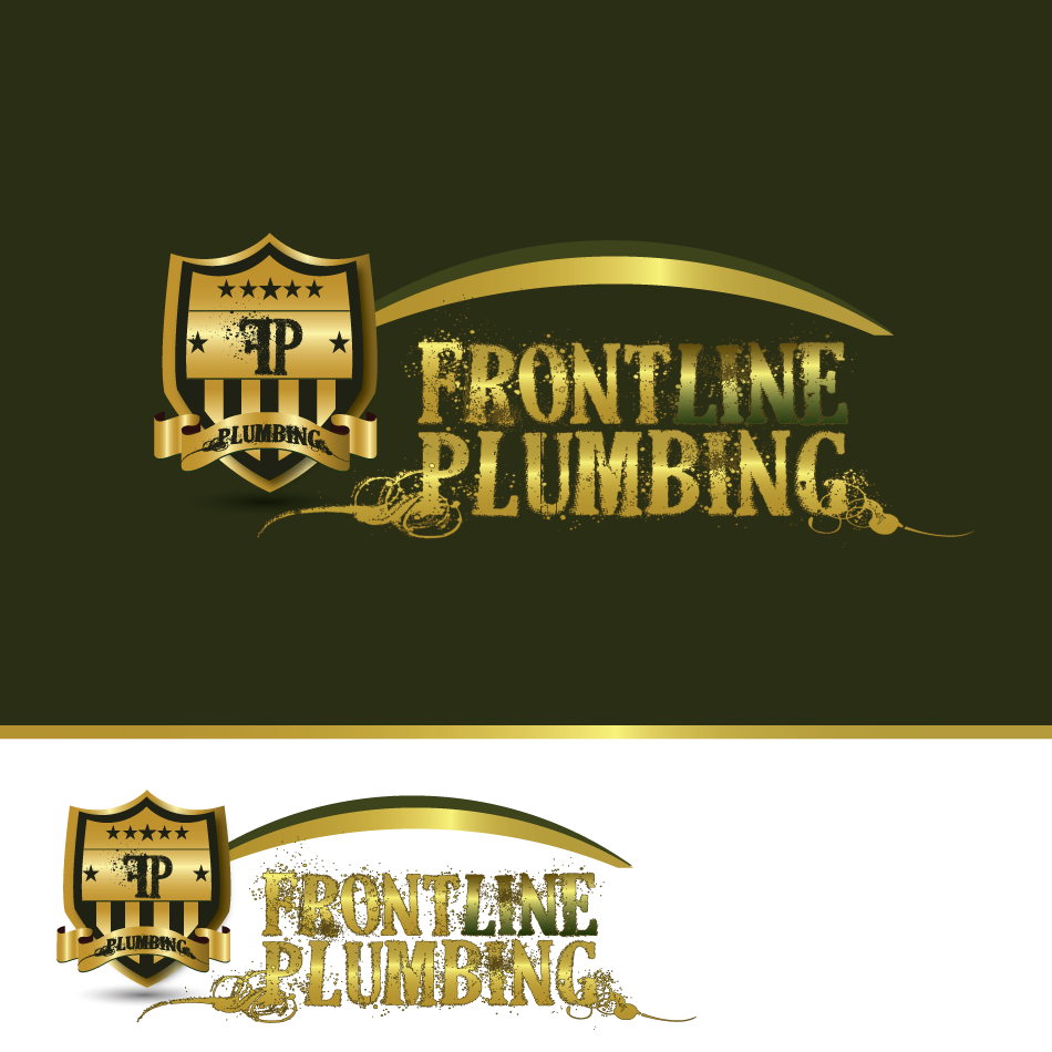 Logo Design by moonflower - Entry No. 69 in the Logo Design Contest Fun Logo Design for Front Line Plumbing.