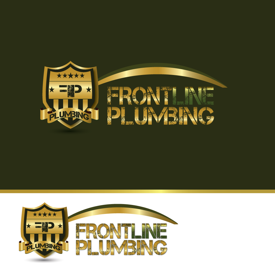 Logo Design by moonflower - Entry No. 70 in the Logo Design Contest Fun Logo Design for Front Line Plumbing.