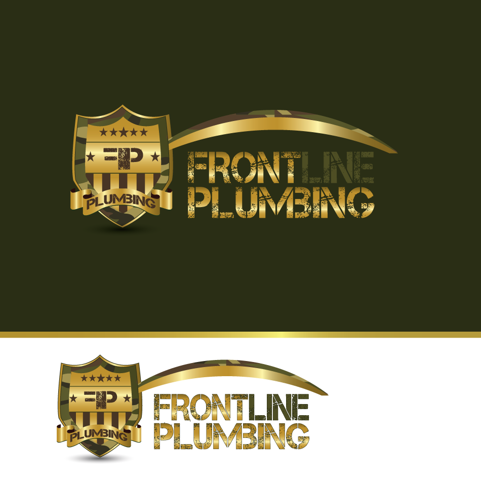 Logo Design by moonflower - Entry No. 71 in the Logo Design Contest Fun Logo Design for Front Line Plumbing.
