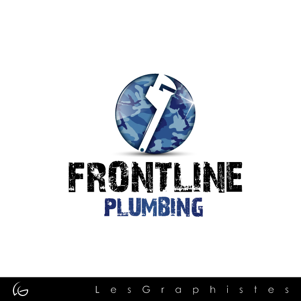 Logo Design by Les-Graphistes - Entry No. 74 in the Logo Design Contest Fun Logo Design for Front Line Plumbing.