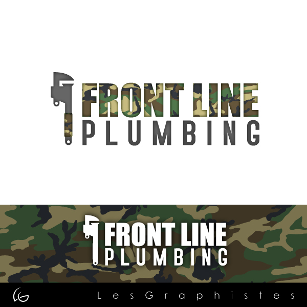 Logo Design by Les-Graphistes - Entry No. 75 in the Logo Design Contest Fun Logo Design for Front Line Plumbing.