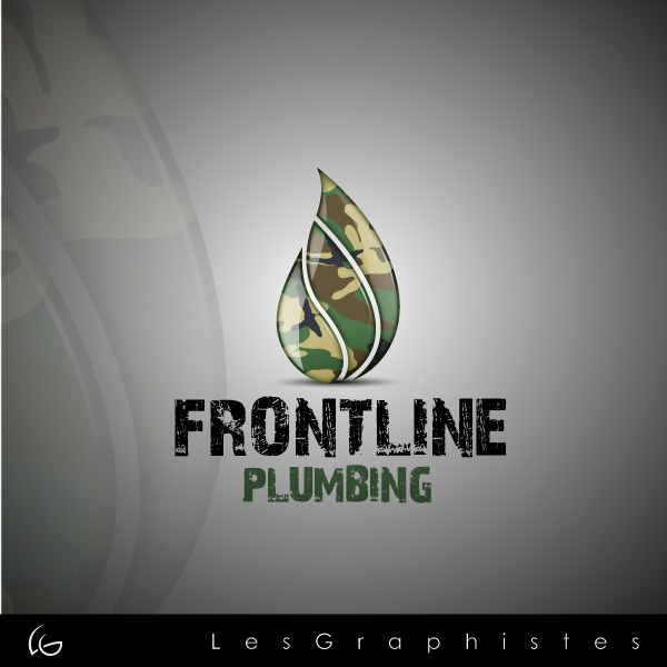 Logo Design by Les-Graphistes - Entry No. 76 in the Logo Design Contest Fun Logo Design for Front Line Plumbing.