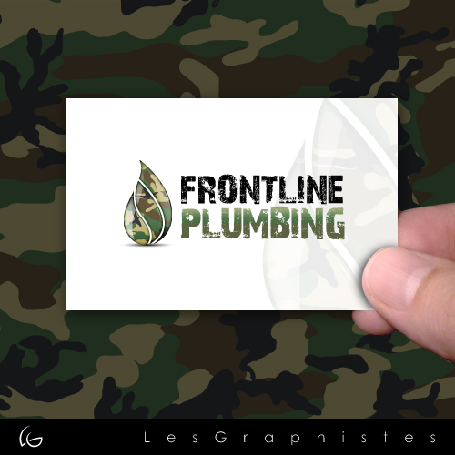 Logo Design by Les-Graphistes - Entry No. 77 in the Logo Design Contest Fun Logo Design for Front Line Plumbing.