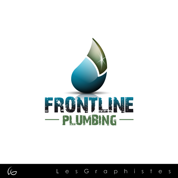 Logo Design by Les-Graphistes - Entry No. 78 in the Logo Design Contest Fun Logo Design for Front Line Plumbing.