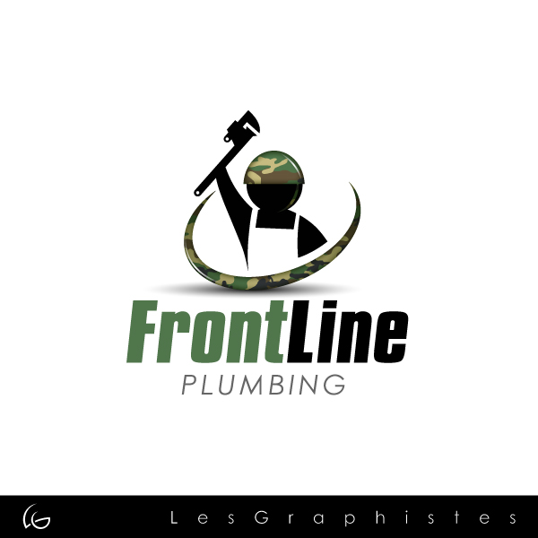 Logo Design by Les-Graphistes - Entry No. 79 in the Logo Design Contest Fun Logo Design for Front Line Plumbing.