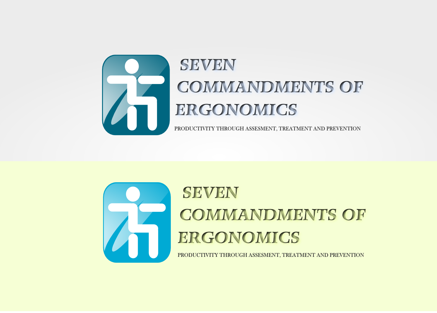 Logo Design by Joseph calunsag Cagaanan - Entry No. 128 in the Logo Design Contest Logo Design for Seven Commandments of Ergonomics.