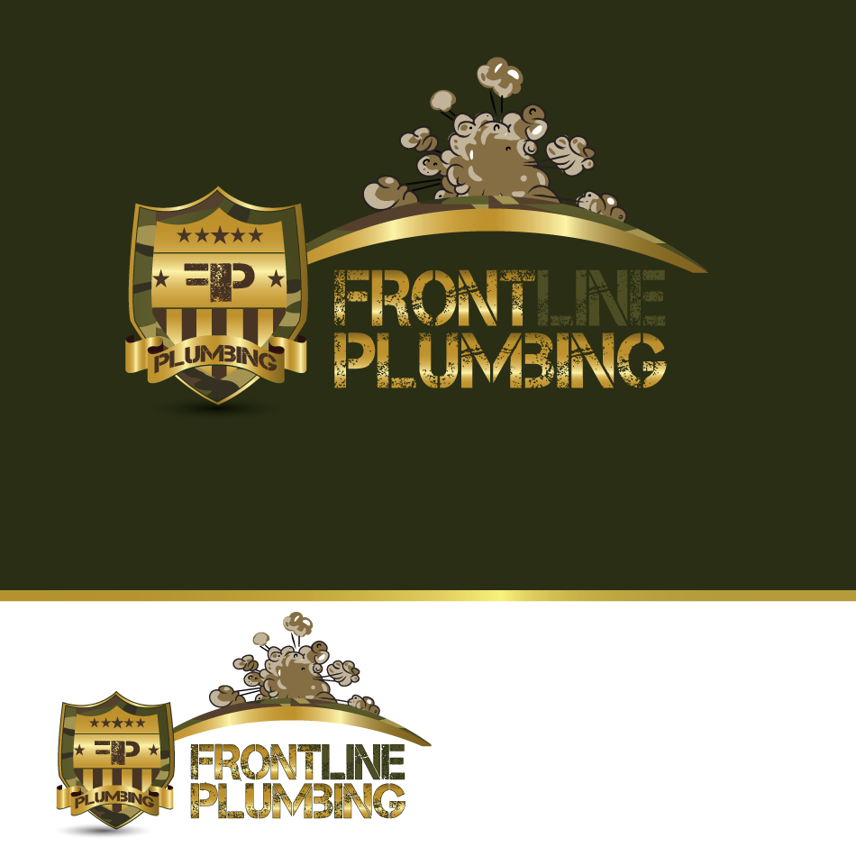Logo Design by moonflower - Entry No. 80 in the Logo Design Contest Fun Logo Design for Front Line Plumbing.