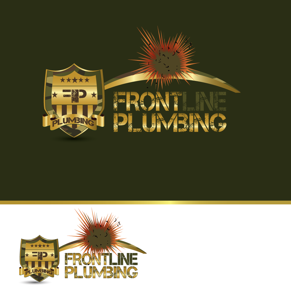 Logo Design by moonflower - Entry No. 81 in the Logo Design Contest Fun Logo Design for Front Line Plumbing.
